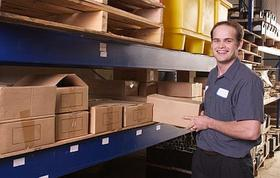 Fulfilment employee in warehouse
